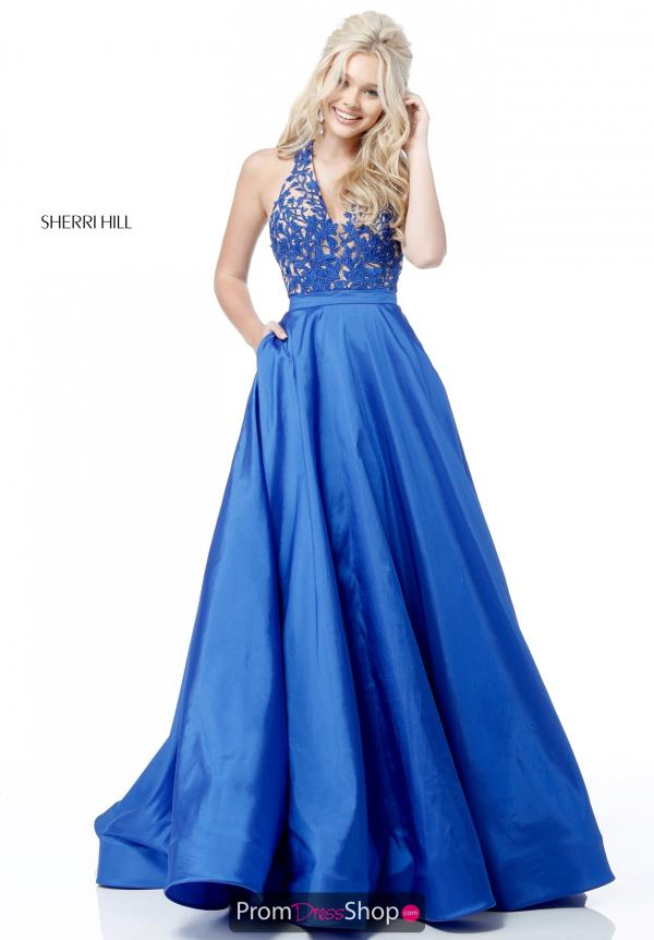Sherri Hill Full Figured Applique Dress 51643