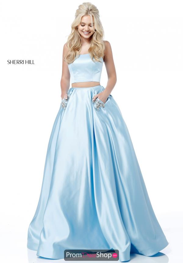 Sherri Hill Satin Two Piece Dress 51649