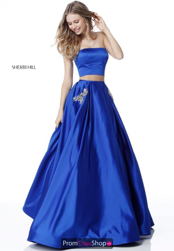 Sherri Hill Satin Two Piece Dress 51649