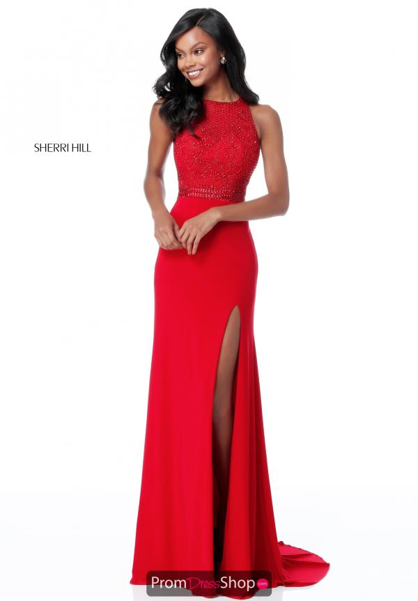 Sherri Hill Beaded High Neckline Dress 51686