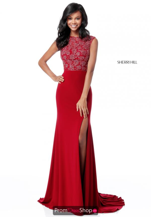 Sherri Hill Beaded Jersey Dress 51692