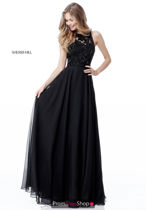 Sherri Hill A Line Beaded Dress 51694