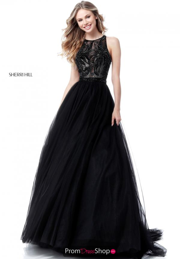 Sherri Hill Long Beaded Dress 51704