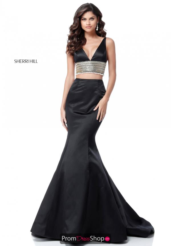 Sherri Hill Two Piece Satin Dress 51711