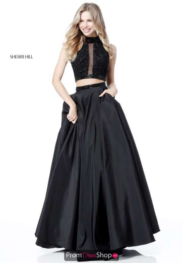 Sherri Hill Two Piece Halter Dress 51725