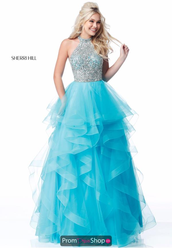 Sherri Hill Halter Beaded Dress 51762