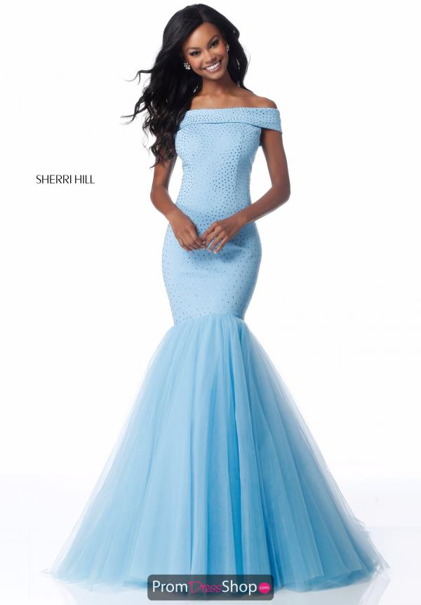 Sherri Hill Cap Sleeved Mermaid Dress 51778