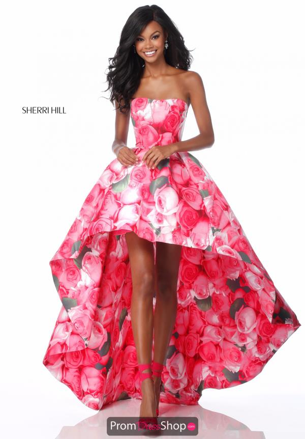 Sherri Hill A Line Strapless Dress 51791