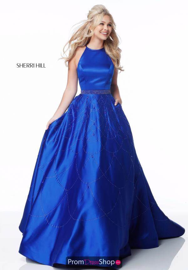 Sherri Hill A Line Satin Dress 51731