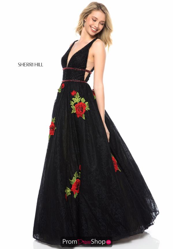 Sherri Hill A Line Tulle Dress 52047