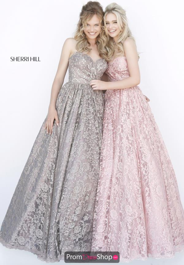 Sherri Hill A Line Sweetheart Dress 51574