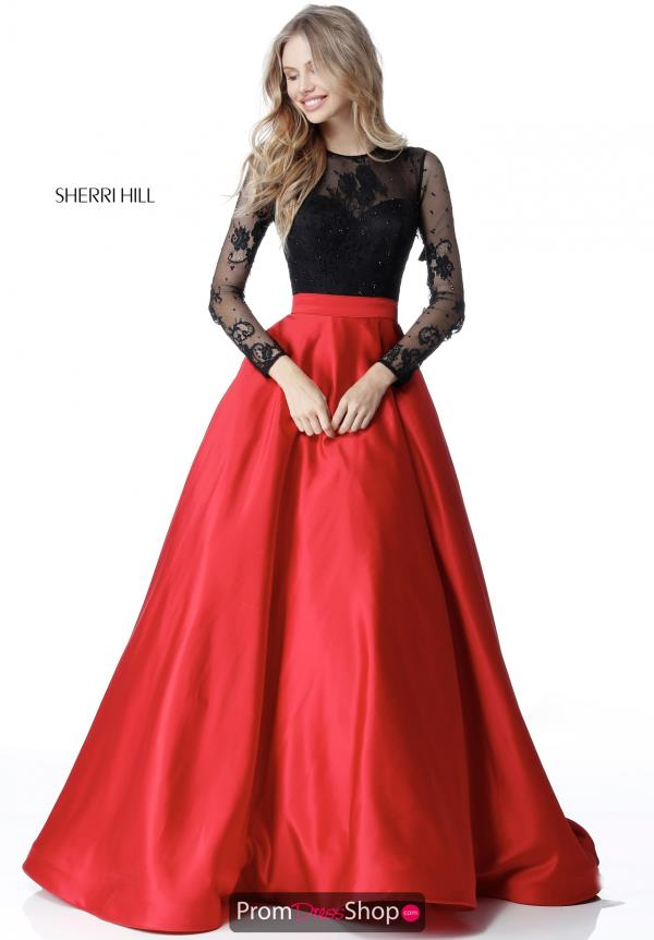 Sherri Hill High Neckline Lace Dress 51586