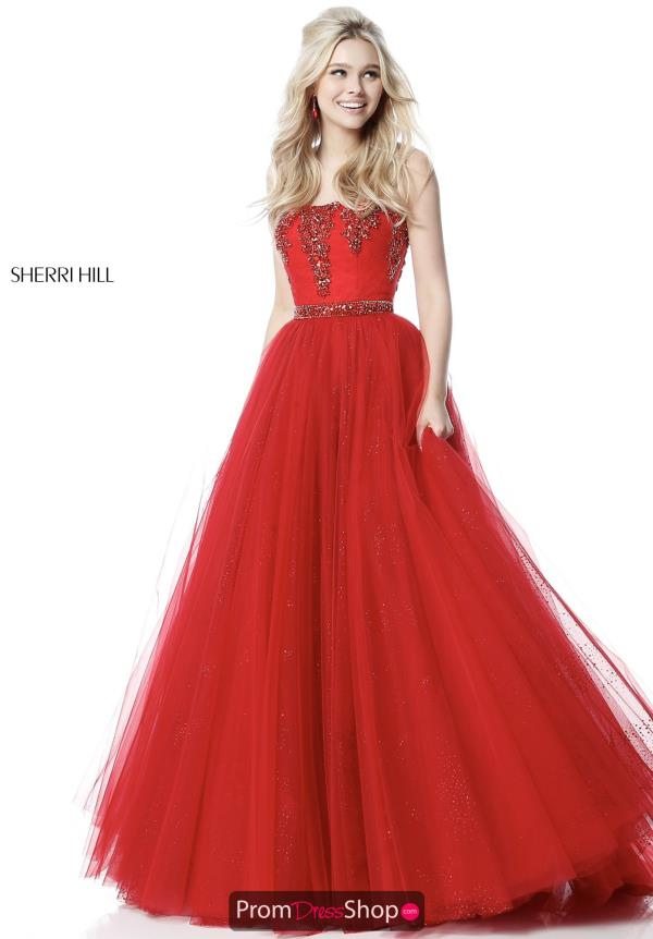 Sherri Hill Full FIgured Beaded Dress 51591