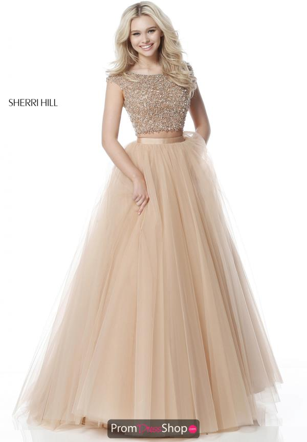 Sherri Hill Ball Gown Two Piece Dress 51594
