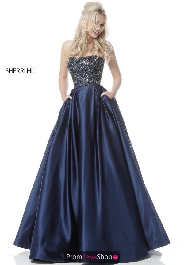 Sherri Hill A Line Satin Dress 51608
