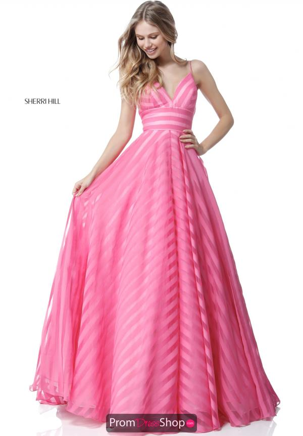 Sherri Hill A Line Chiffon Dress 51644