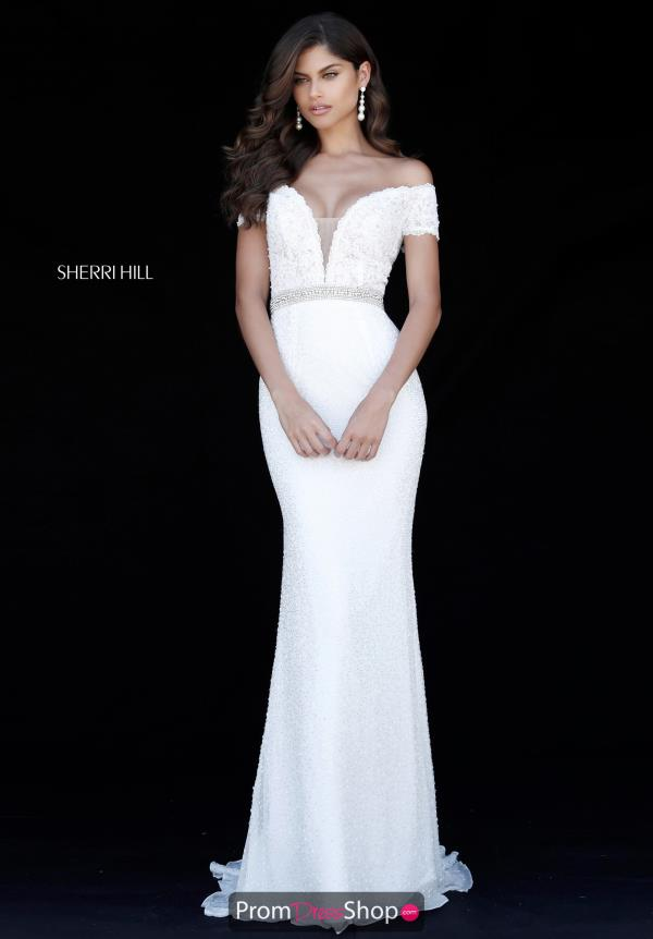 Sherri Hill Cap Sleeve Beaded Dress 51657