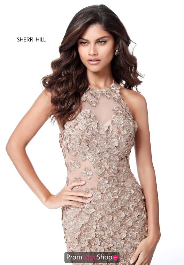 Sherri Hill Halter Open Back Dress 51660
