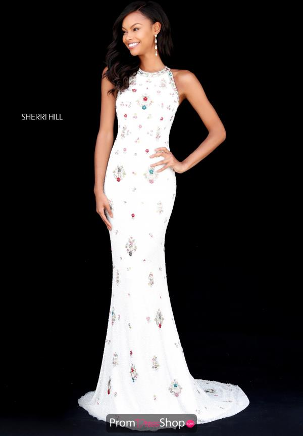 Sherri Hill High Neckline Long Dress 51661