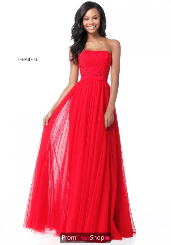 Sherri Hill Strapless Beaded Dress 51667