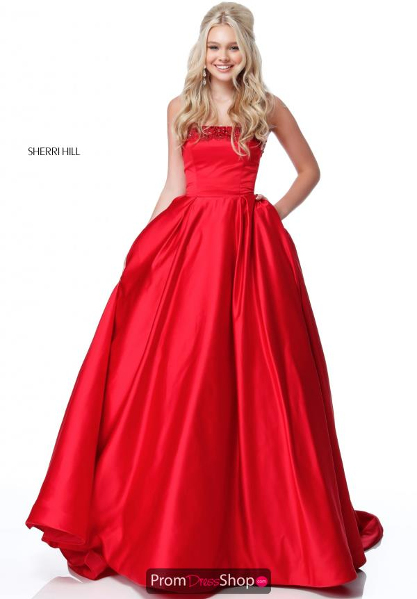 Sherri Hill Beaded Strapless Dress 51674