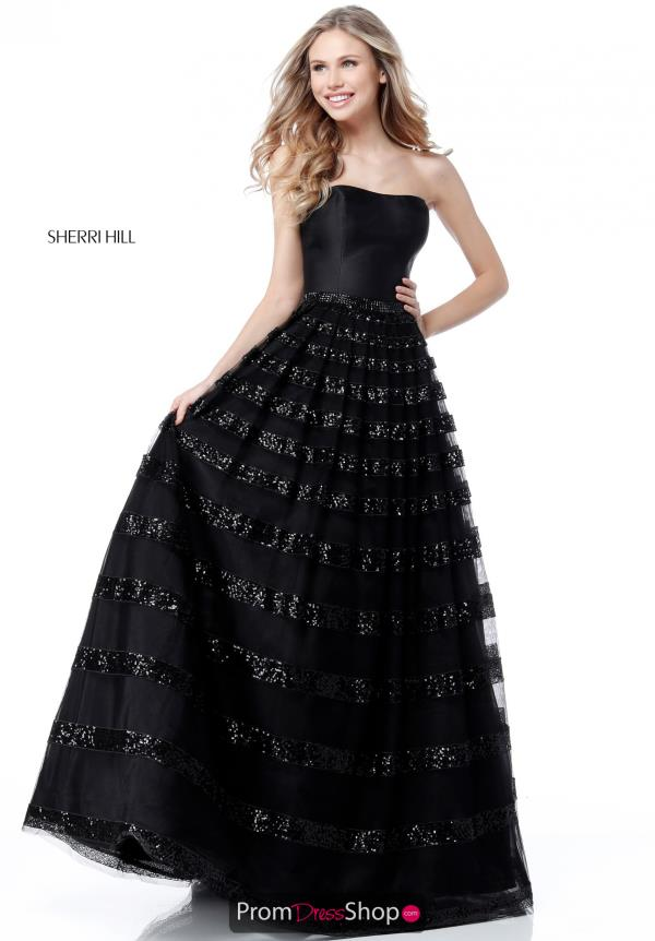 Sherri Hill A Line Long Dress 51705