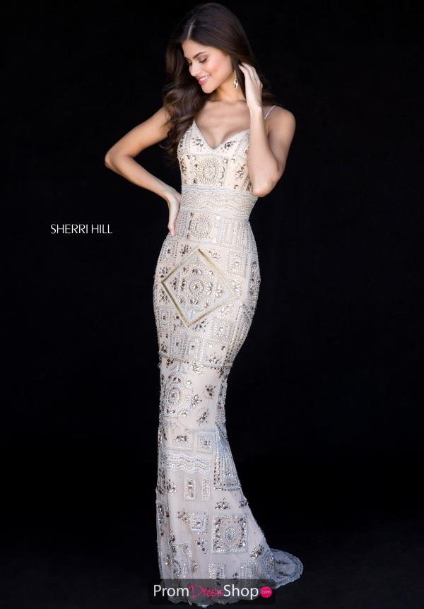 Sherri Hill Corset Lace Up Long Dress 51740