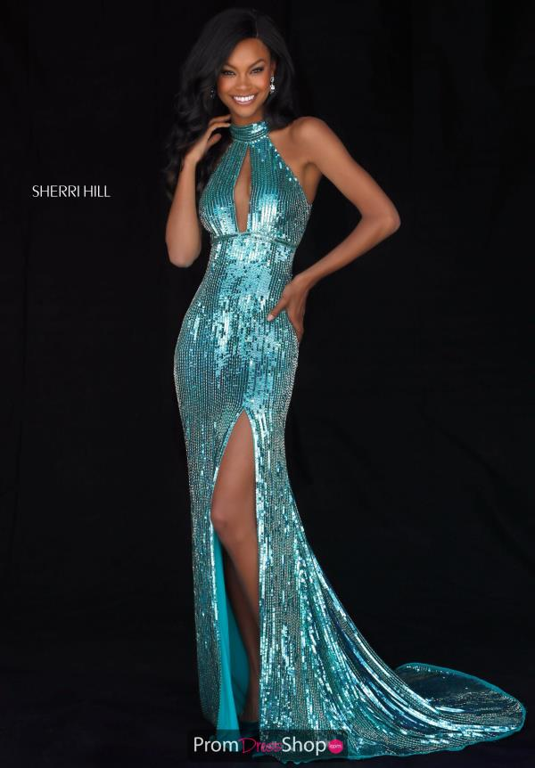 Sherri Hill Open Back Fitted Dress 51741