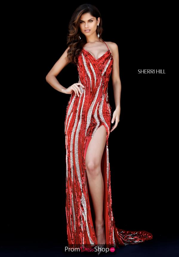 Sherri Hill Sexy Back Fitted Dress 51743