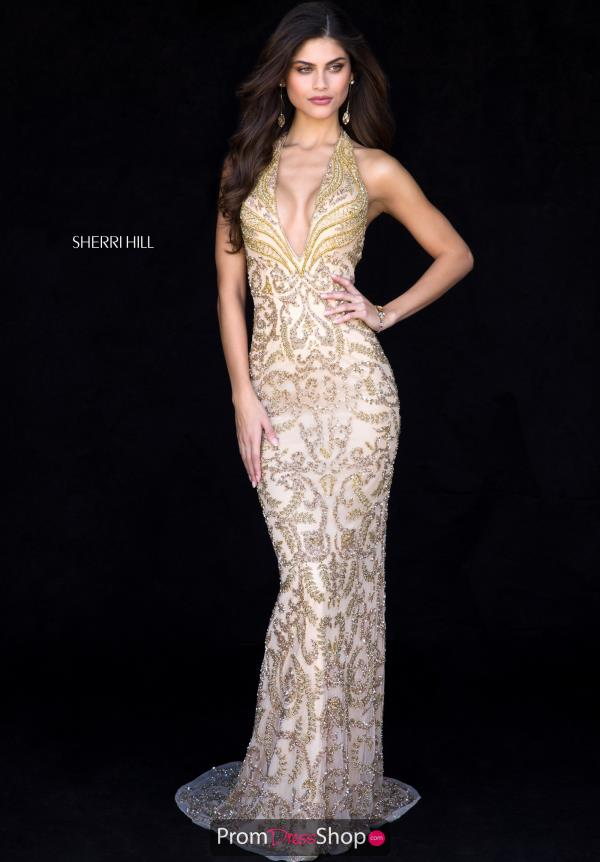 Sherri Hill Fitted Long Dress 51749