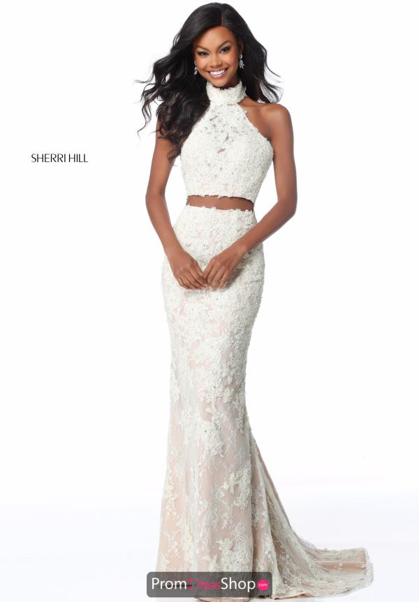 Sherri Hill Two Piece Open Back 51770