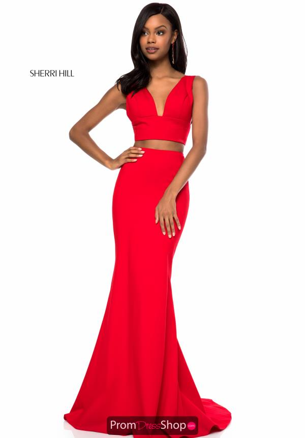 Sherri Hill Neoprene Two Piece Dress 51775