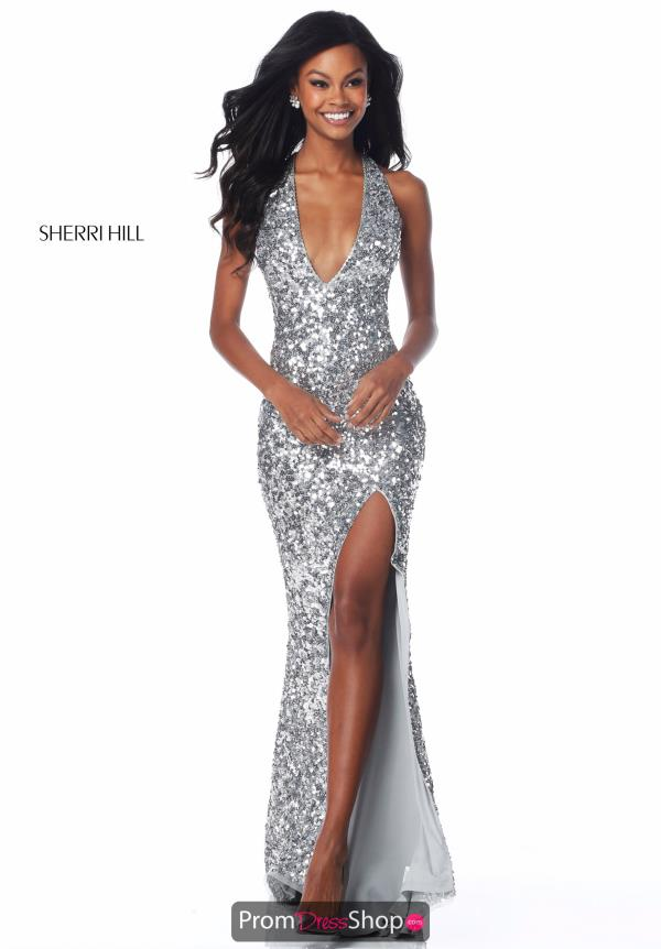 Sherri Hill Fitted Sequins Dress 51785