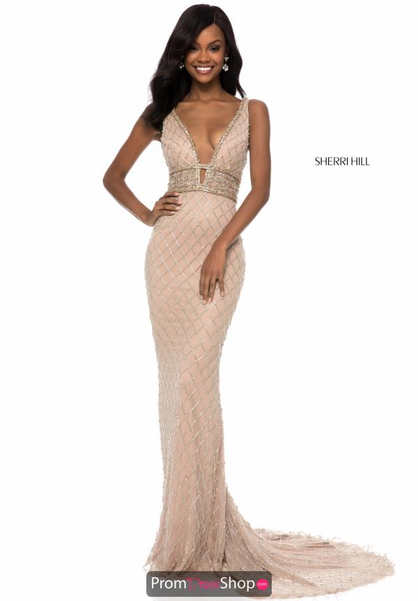 Sherri Hill Open Back Fitted Dress 51788