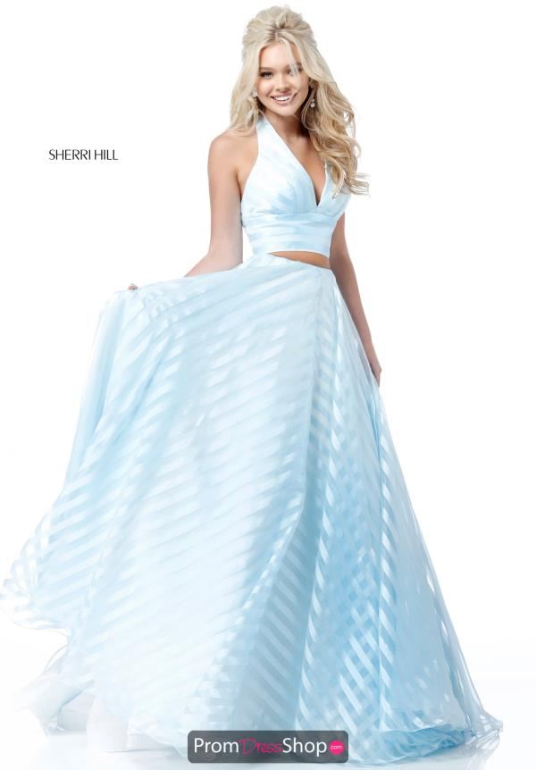 Sherri Hill V-Neck A Line Dress 51804