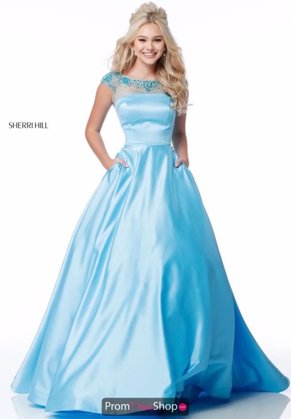 Sherri Hill A Line Satin Dress 51814