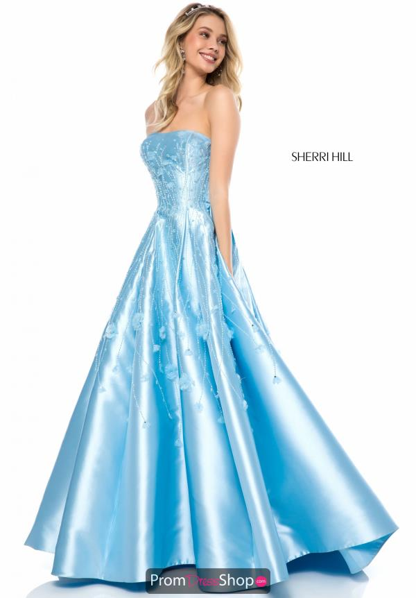 Sherri Hill A Line Applique Dress 51830