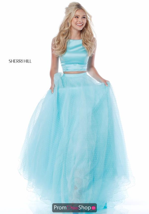 Sherri Hill Two Piece Tulle Dress 51895