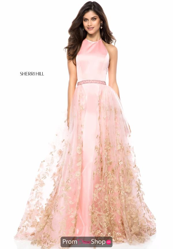 Sherri Hill Beaded Satin Dress 51896