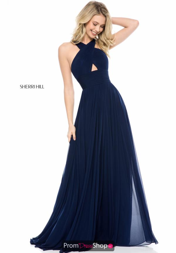 Sherri Hill Cross Over Neckline Dress 51903
