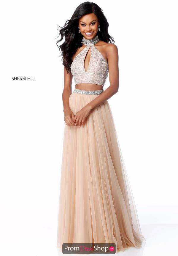 Sherri Hill A Line Halter Dress 51910