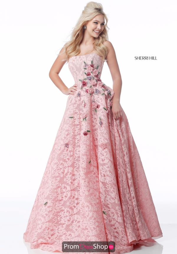 Sherri Hill Lace Beaded Dress 51929
