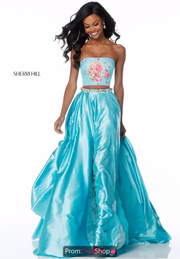 Sherri Hill A Line Strapless Dress 51932