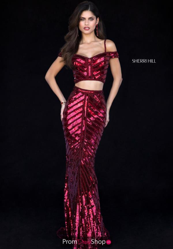 Sherri Hill Mermaid Off the Shoulder Dress 51934
