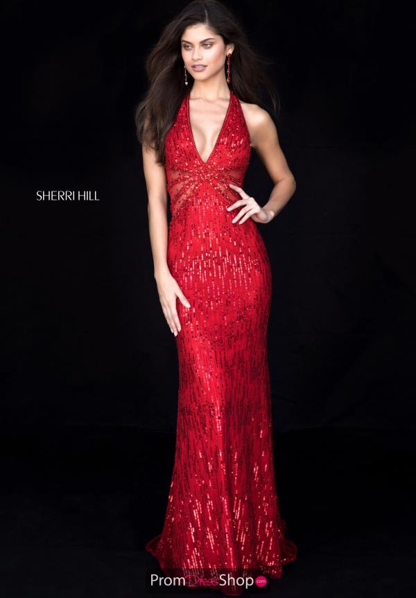 Sherri Hill Fitted Halter Dress 51948