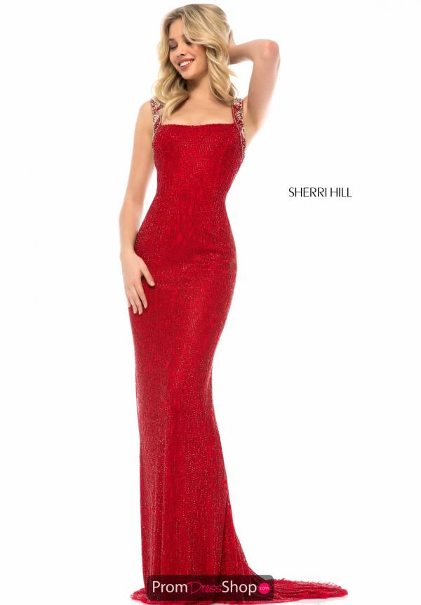 Sherri Hill Fitted Long Dress 51950