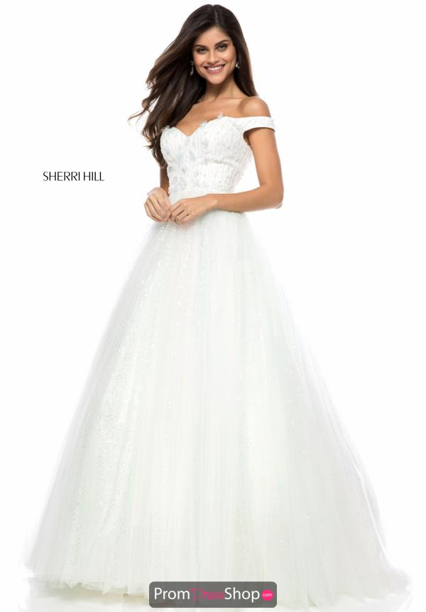 Sherri Hill Cap Sleeve Long Dress 51990