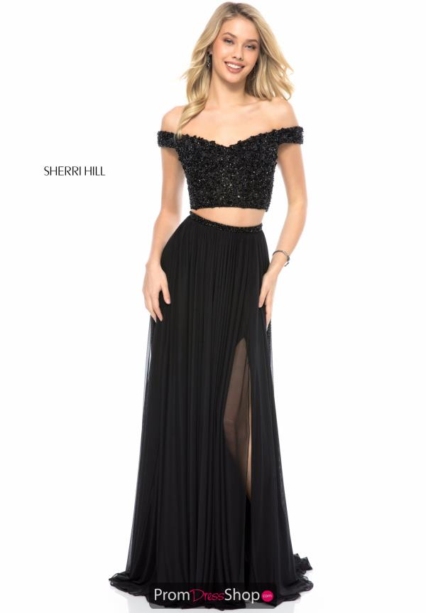 Sherri Hill Two Piece Beaded Dress 51996