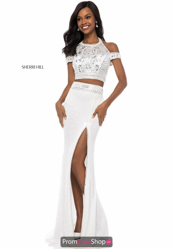 Sherri Hill Beaded Cap Sleeve Dress 52009