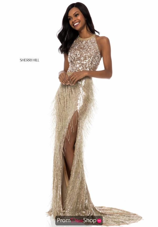 Sherri Hill Fitted Sexy Back Dress 52067